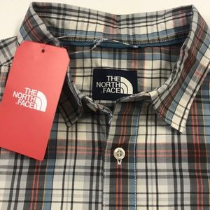 🆕 THE NORTH FACE Mens Plaid Short Sleeve Shirt